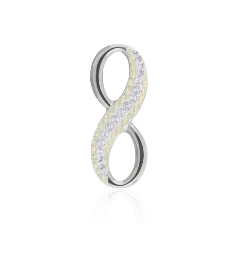 20MM Crystal Moonlight (001 MOL) Pavé Infinity Pendant 67402 SWAROVSKI ELEMENTS
