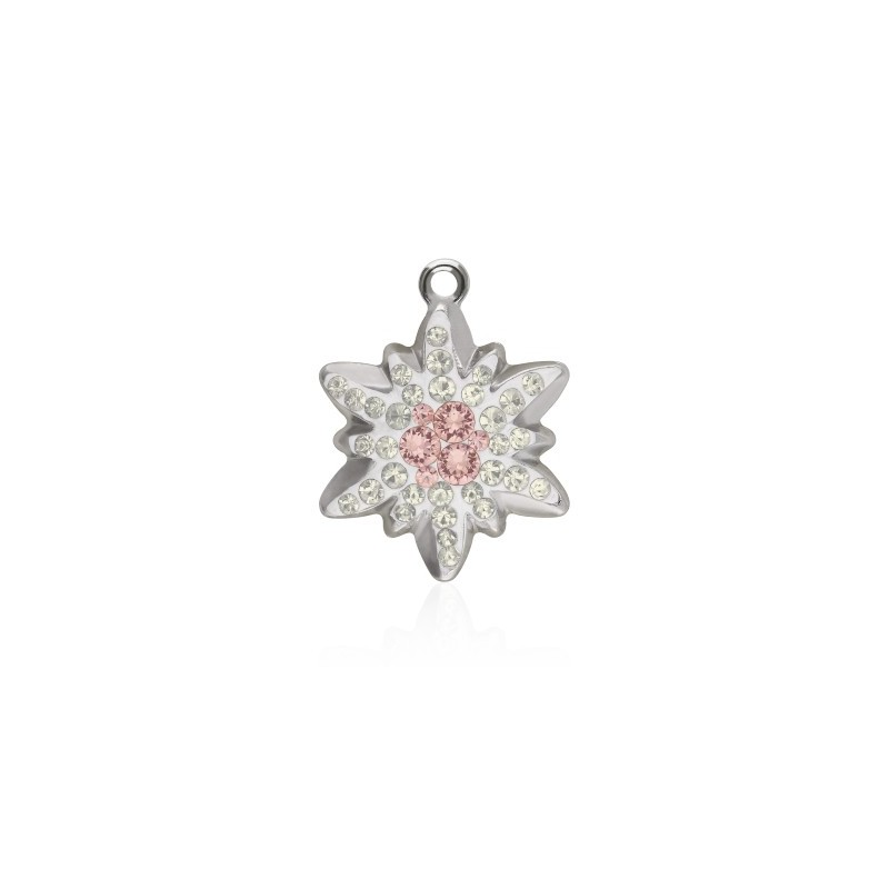 14MM Vintage Rose (319) Pavé Edelweiss Pendant 67442 SWAROVSKI ELEMENTS