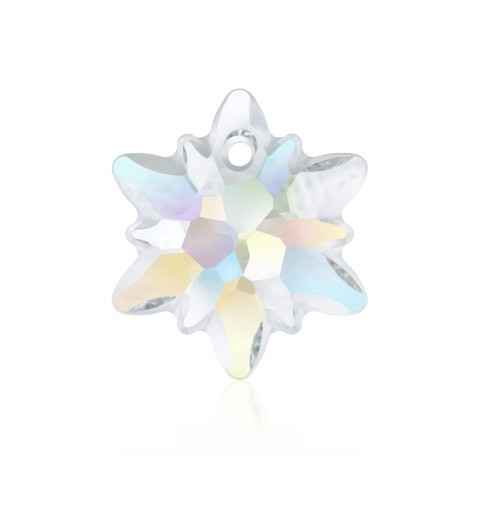 14MM Crystal AB (001 AB) Edelweiss Pendant partly frosted 6748/G SWAROVSKI ELEMENTS