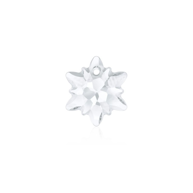 14MM Crystal (001) Edelweiss Pendant partly frosted 6748/G SWAROVSKI ELEMENTS