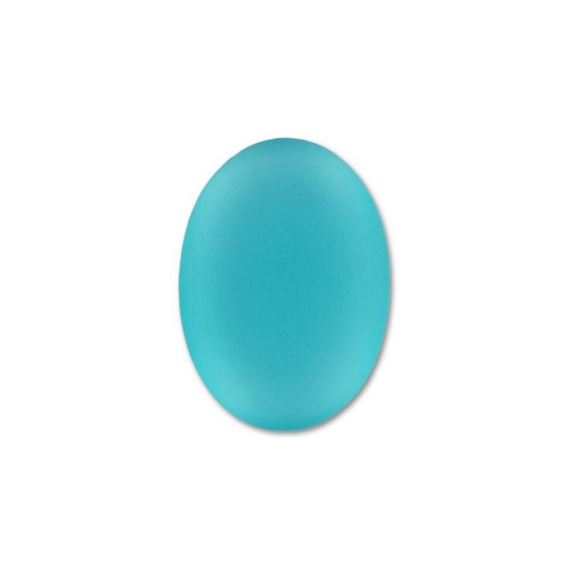 25x18мм Blue Zircon Lunasoft Lucite Овальный Кабошон