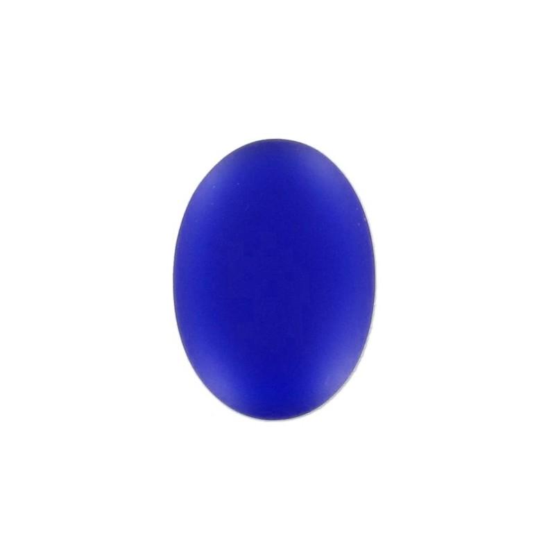 25x18мм Cobalt Lunasoft Lucite Овальный Кабошон