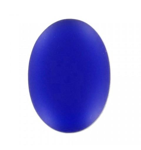 25x18mm Cobalt Lunasoft Lucite Ovaalne Cabochon