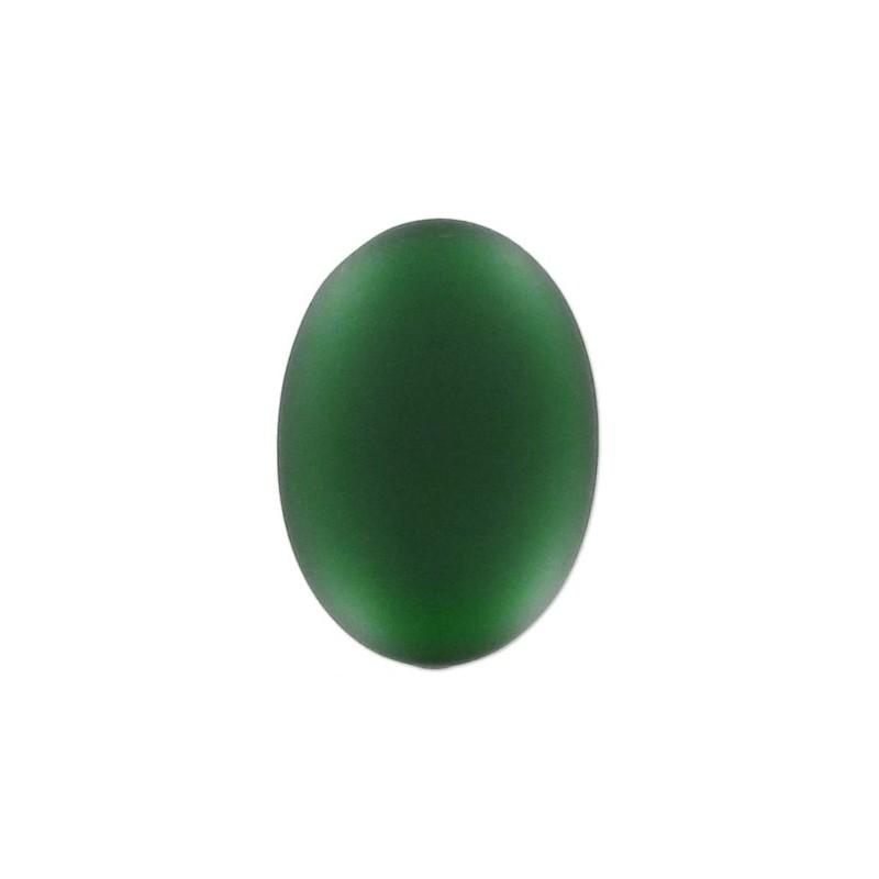 25x18mm Emerald Lunasoft Lucite Oval Cabochon