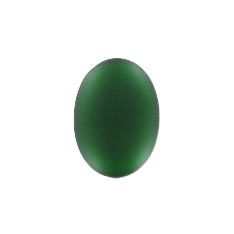 25x18mm Emerald Lunasoft Lucite Ovaalne Cabochon