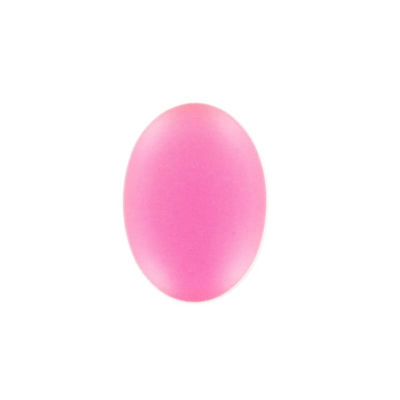 25x18мм Rose Fluo Lunasoft Lucite Овальный Кабошон
