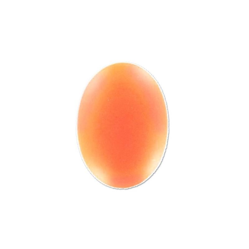25x18mm Orange Fluo Lunasoft Lucite Oval Cabochon