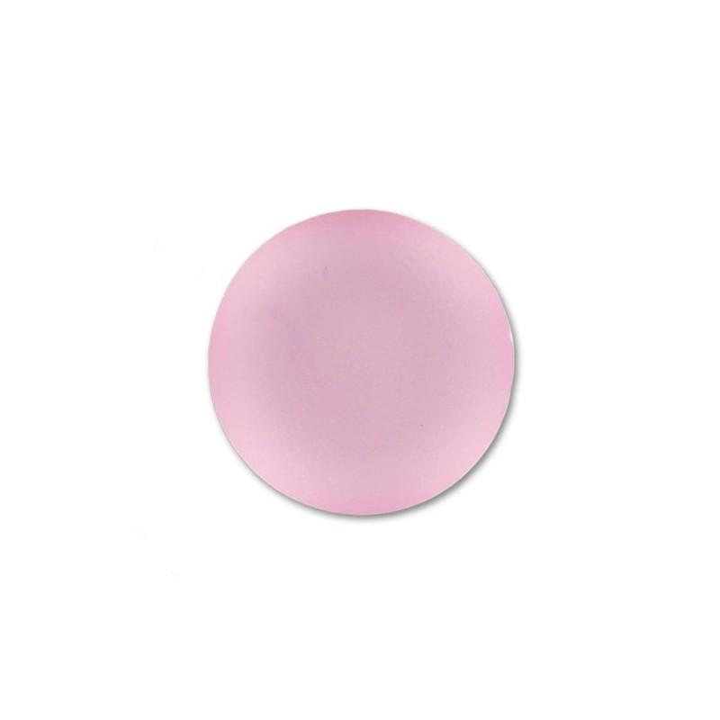 18mm Rose Lunasoft Lucite Round Cabochon