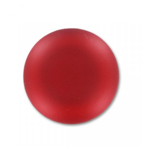 18mm Light Siam Lunasoft Lucite Round Cabochon