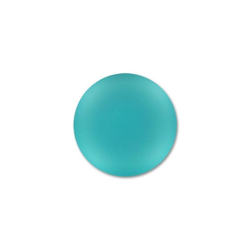 18mm Blue Zircon Lunasoft Lucite Round Cabochon