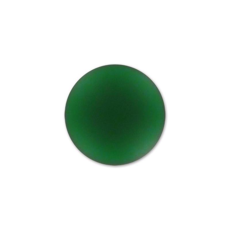 18mm Emerald Lunasoft Lucite Round Cabochon