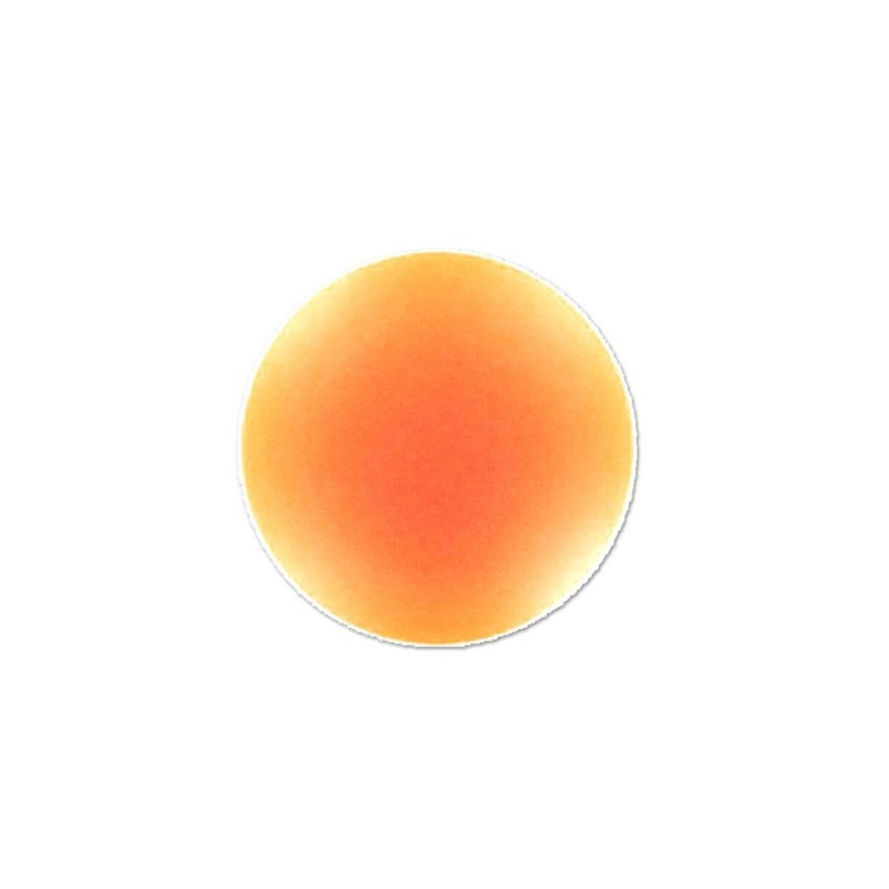 18mm Orange Fluo Lunasoft Lucite Round Cabochon