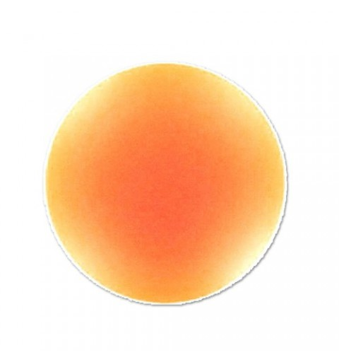 18mm Orange Fluo Lunasoft Lucite Round Cabochon