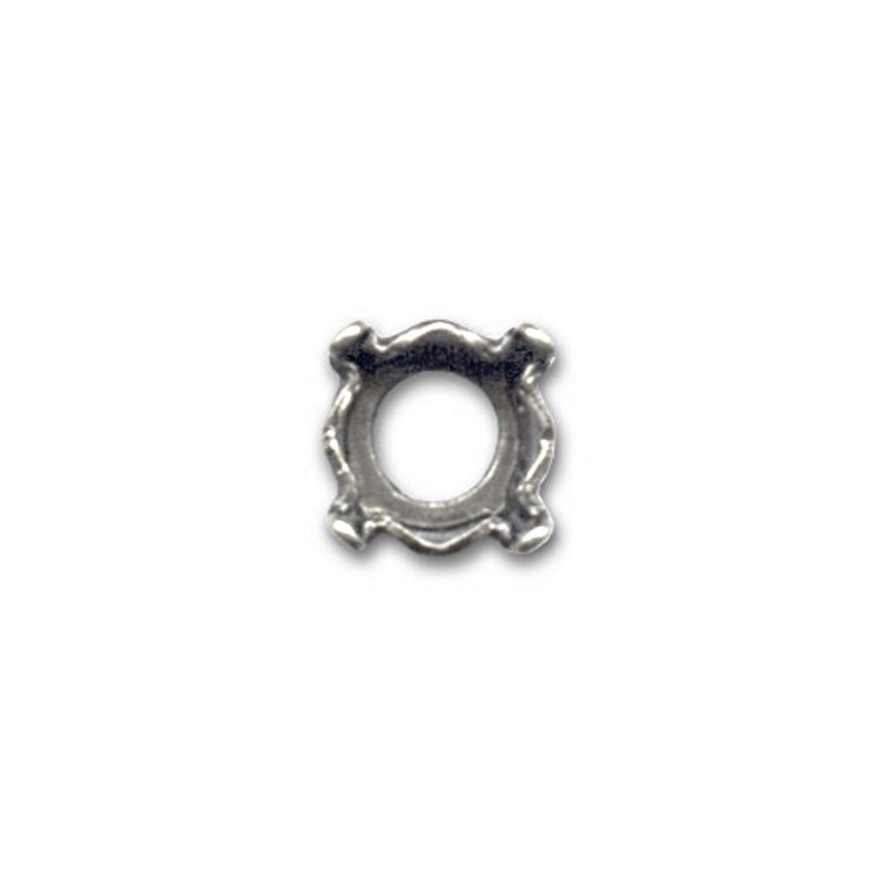 8mm (SS39) Setting for Swarovski 1088(1028/1122) Old silver-colored (4 holes, 4 prongs)