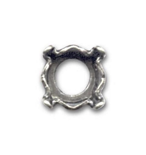 8mm (SS39) Оправа для Сваровски 1088(1028/1122) цвет Старого Серебра (4 отвестия, 4 зажима)