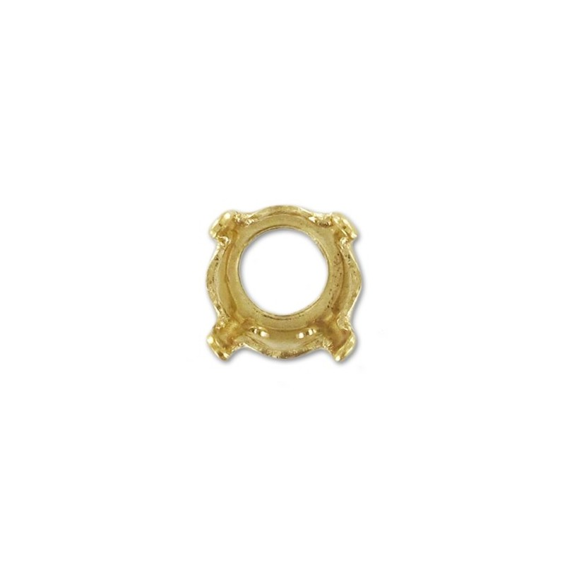 8mm (SS39) Setting for Swarovski (1088/1028/1122) Gold colored (4 holes, 4 prongs)