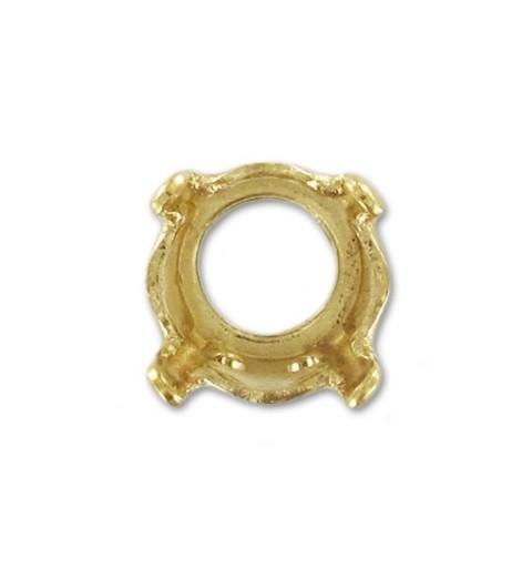 8mm (SS39) Оправа для Сваровски (1088/1028/1122) цвет Золота (4 отвестия, 4 зажима)