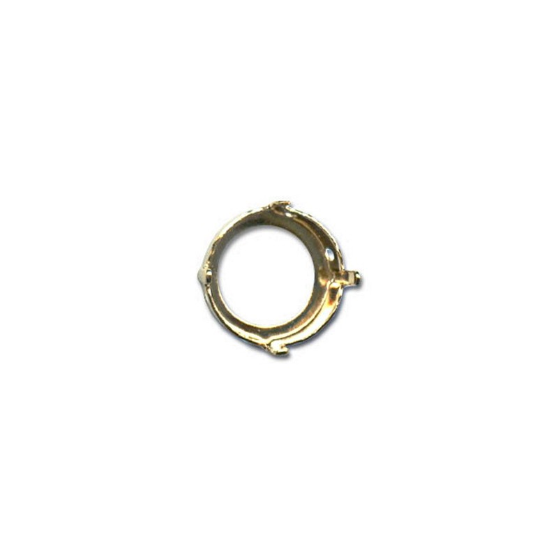 14mm Setting for Swarovski Rivoli 1122 Gold colored (4 holes, 4 prongs)