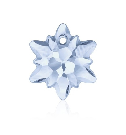 14MM Crystal Blue Shade (001 BLSH) Edelweiss Pendant partly frosted 6748/G SWAROVSKI ELEMENTS