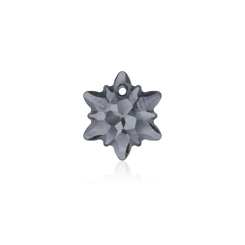14MM Crystal Silver Night (001 SINI) Edelweiss Pendant partly frosted 6748/G SWAROVSKI ELEMENTS