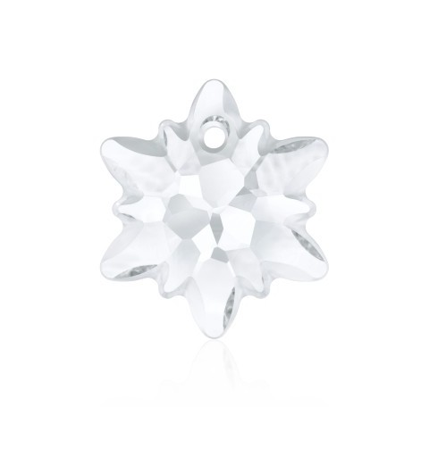 18MM Crystal (001) Edelweiss Pendant partly frosted 6748/G SWAROVSKI ELEMENTS