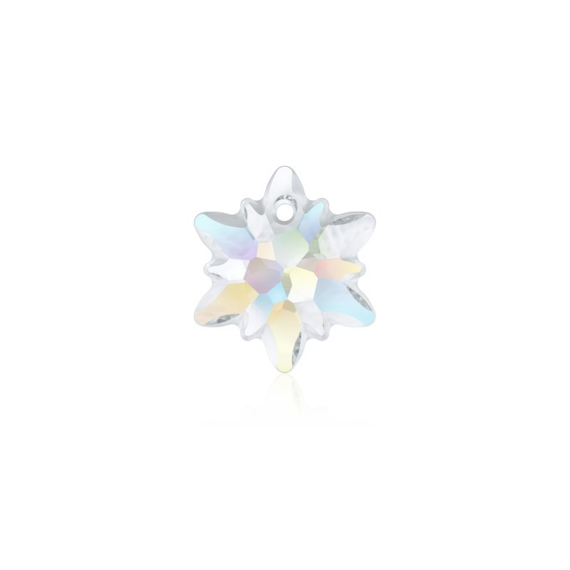 18MM Crystal AB (001 AB) Edelweiss Pendant partly frosted 6748/G SWAROVSKI ELEMENTS