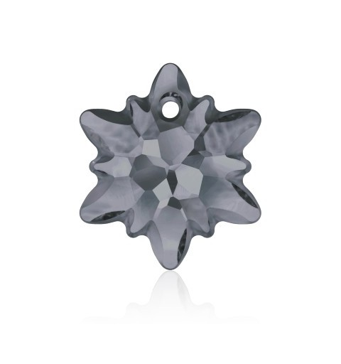 18MM Crystal Silver Night (001 SINI) Edelweiss Pendant partly frosted 6748/G SWAROVSKI ELEMENTS