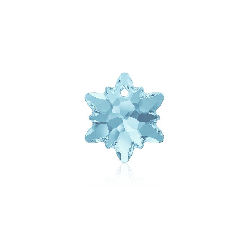 14MM Aquamarine (202) Edelweiss Pendant SWAROVSKI ELEMENTS