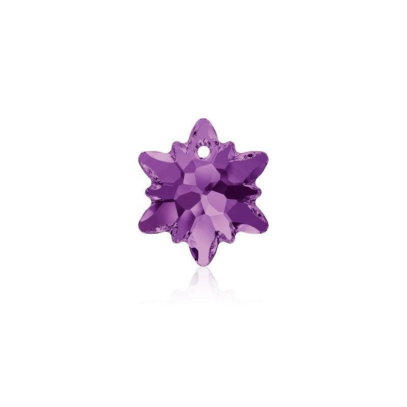 14MM Amethyst (204) Edelweiss Pendant SWAROVSKI ELEMENTS