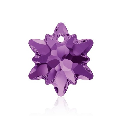 18MM Amethyst (204) Edelweiss Pendant SWAROVSKI ELEMENTS