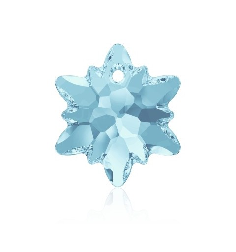 18MM Aquamarine (202) Edelweiss Pendant SWAROVSKI ELEMENTS