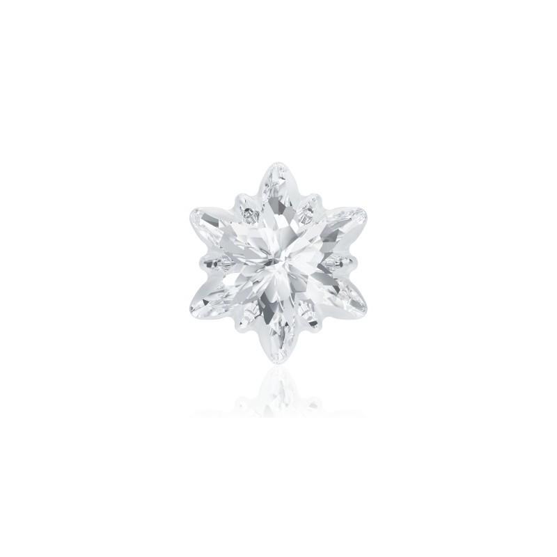 14mm Crystal F (001) Edelweiss Fancy Stone frosted 4753/G Swarovski Elements