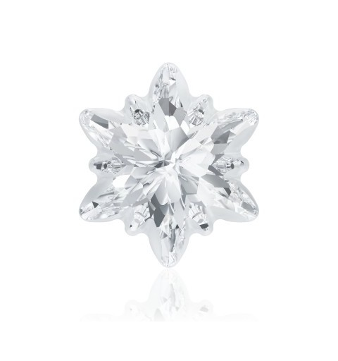 14mm Crystal F (001) Edelweiss Fancy Stone frosted 4753/G Swarovski Elements