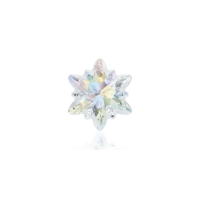 14mm Crystal AB F (001 AB) Edelweiss Fancy Stone frosted 4753/G Swarovski Elements