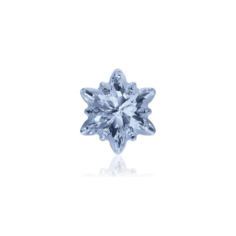 14mm Crystal Blue Shade F (001 BLSH) Edelweiss Fancy Stone frosted 4753/G Swarovski Elements