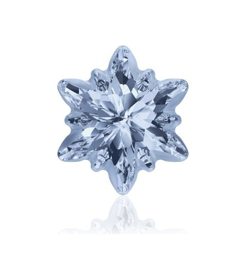 14mm Crystal Blue Shade F (001 BLSH) Edelweiss Fancy Stone frosted 4753/G Swarovski Elements
