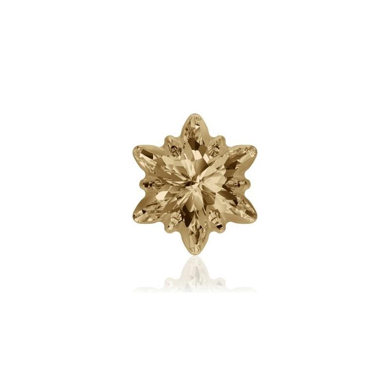 14mm Crystal Golden Shadow F (001 GSHA) Edelweiss Fancy Stone frosted 4753/G Swarovski Elements