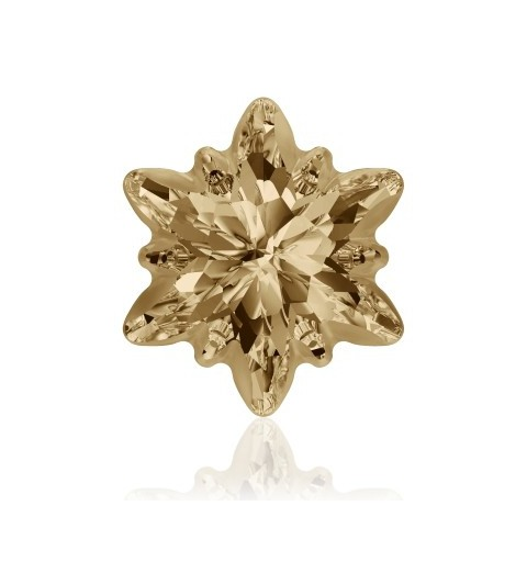 14mm Crystal Golden Shadow F (001 GSHA) Edelweiss Fancy Stone frosted 4753/G Swarovski Elements
