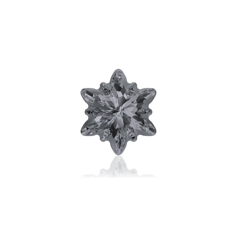 14mm Crystal Silver Night (001 SINI) Edelweiss Fancy Stone frosted 4753/G Swarovski Elements