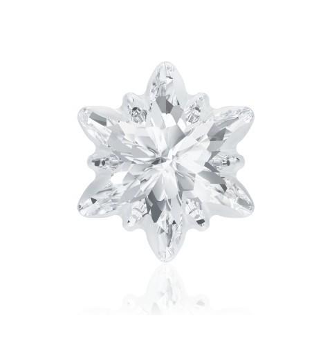 18mm Crystal F (001) Edelweiss Fancy Stone frosted 4753/G Swarovski Elements