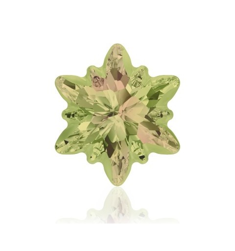 18mm Crystal Luminous Green F (001 LUMG) Edelweiss Fancy Stone frosted 4753/G Swarovski Elements