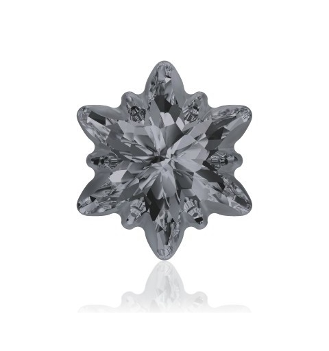 18mm Crystal Silver Night (001 SINI) Edelweiss Fancy Stone frosted 4753/G Swarovski Elements