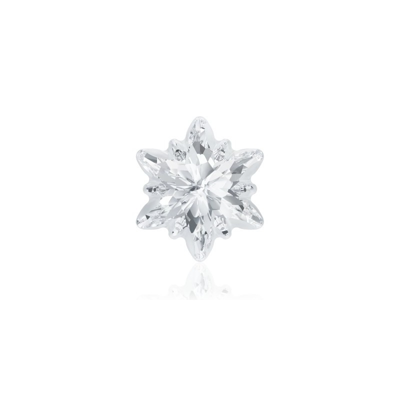 14mm Crystal F (001) Edelweiss Ehete Kristall frosted 4753/G Swarovski Elements