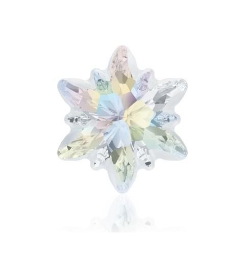23mm Crystal AB F (001 AB) Edelweiss Fancy Stone frosted 4753/G Swarovski Elements