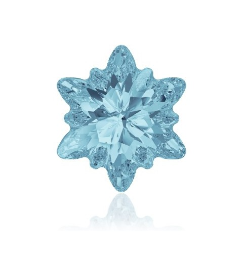 14mm Aquamarine F (202) Edelweiss Fancy Stone 4753 Swarovski Elements