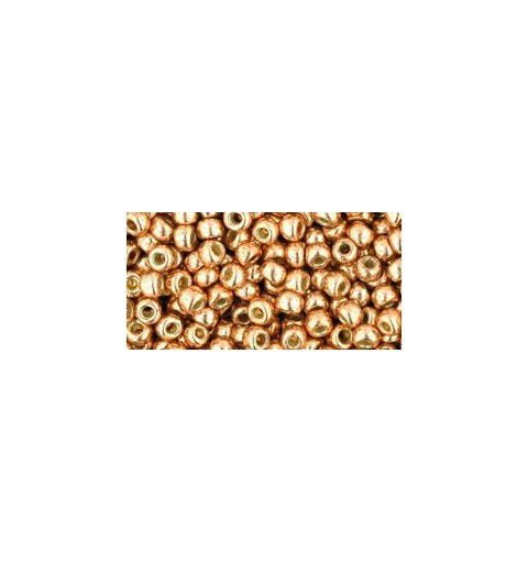 TR-08-PF551 Permanent Finish - Galvanized Rose Gold TOHO SEED BEADS