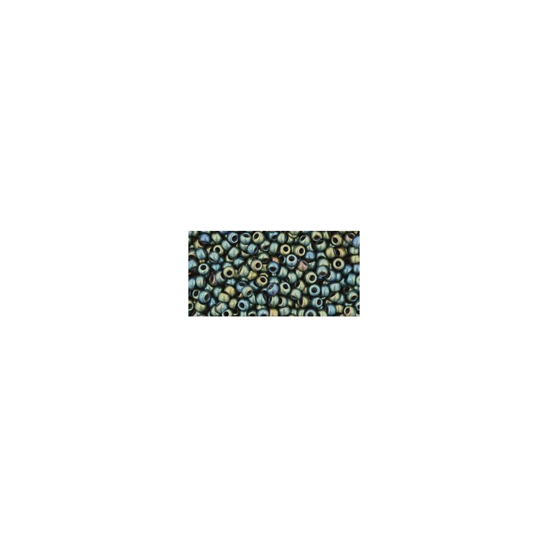TR-11-84F Frosted Metallic Iris Green/Brown TOHO Seed Beads