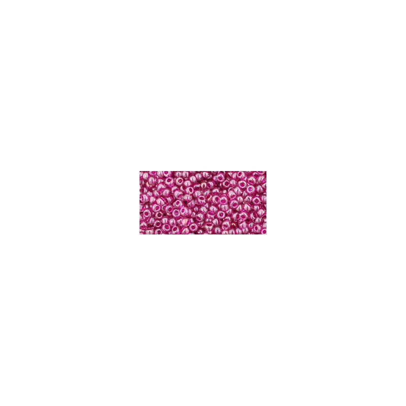 TR-11-356 Inside-Color Lt Amethyst/Fuscia Lined TOHO Seed Beads