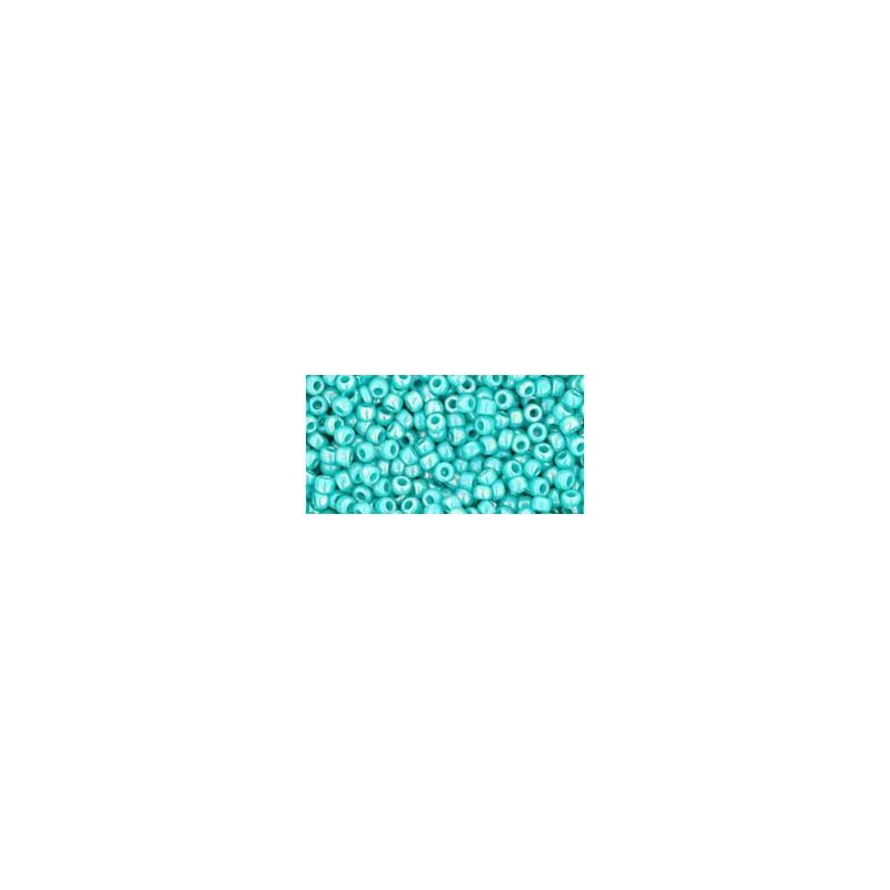 TR-11-413 Opaque-Rainbow Turquoise TOHO Seed Beads