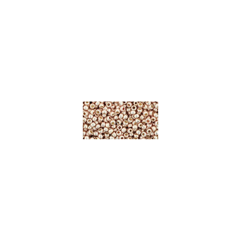 TR-11-PF552 Permanent Finish - Galvanized Sweet Blush TOHO Seed Beads